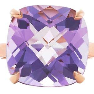 Tiffany & Co. 18k Lavender Sparkler Ring Size 6